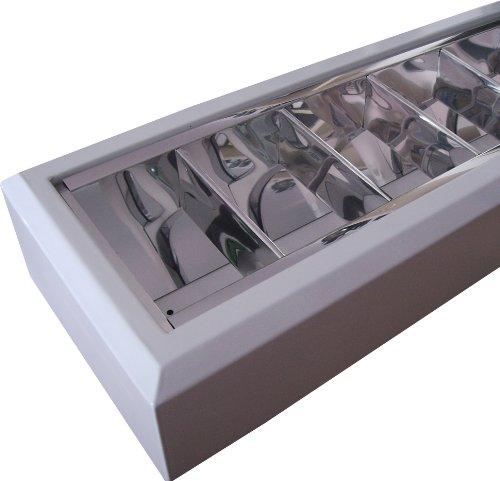 EVG Anbauleuchte Spiegelraster Leuchtstofflampe 1x 58 Watt Büro PC-Arbeitsplatz