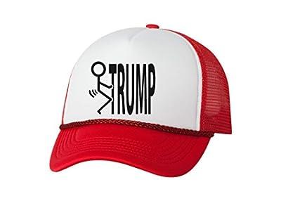 Funny Fuck Trump Baseball Cap Retro Vintage Novelty Joke Trucker Hat Anti F (Red)