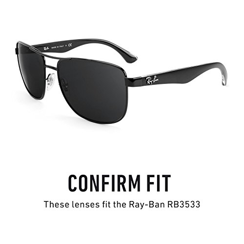a04caaca16 Revant Polarized Replacement Lenses for Ray Ban RB3533 Black Chrome  MirrorShield®  Amazon.co.uk  Clothing