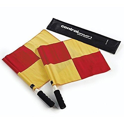Linesmans Flaggen & flagstick Drehung frei Schaumstoff ummantelt Stick Griff und Speicherung Tasche