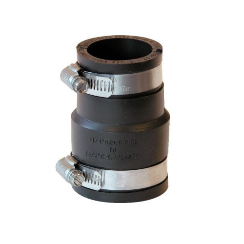 1-1/2'' X 1-1/4'' PVC Flexible Coupling Reducer with Stainless Steel Clamp