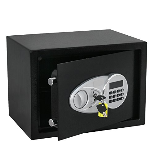 Smartxchoices Digital Electronic Security Safe Box Steel Construction Fire Resistant Safe Deposit Box Lock Money Gun Jewelry Safe 0.5 Cubic Feet
