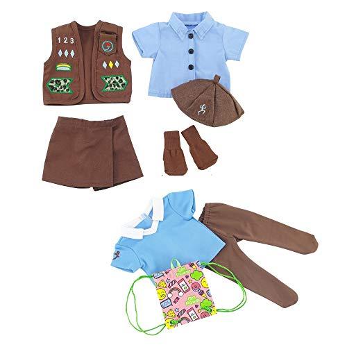 [해외]Emily Rose 18 Inch Doll Clothes | Modern Brownie Girl Scout 8 Piece Uniform and Accessory Value Pack | Fits American Girl Dolls | Gift Boxed! / Emily Rose 18 Inch Doll Clothes | Modern Brownie Girl Scout 8 Piece Uniform and Accesso...
