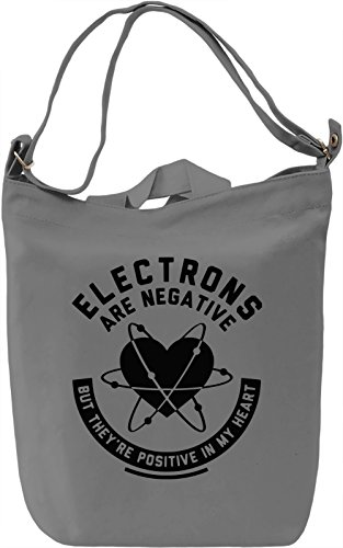 Electrons Are Negative Borsa Giornaliera Canvas Canvas Day Bag| 100% Premium Cotton Canvas| DTG Printing|