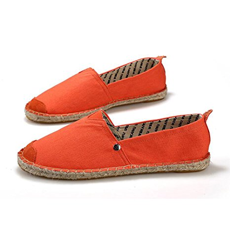 Kvinners Nye Stilen Sommer Loafers Lerret Sko Flat Slip-on Tøfler Orange