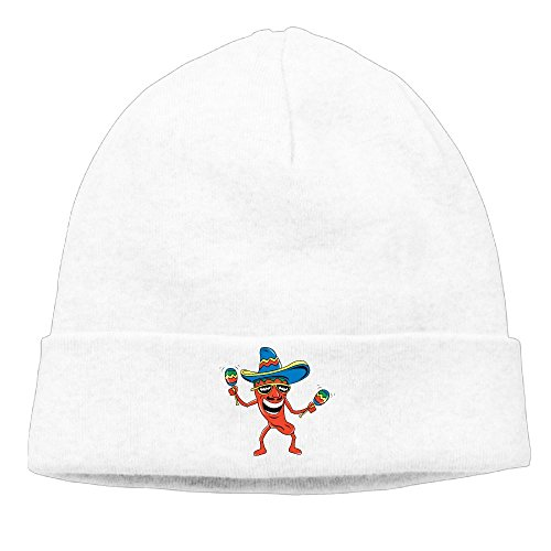 Richard Lyons Momen Funny Mexican Fashion Street Dance White Beanies Cap