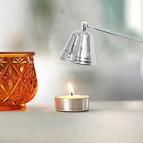 QUAN Votive Candle Holders キャンドルマスクステンレス鋼明るいクロームシルバーキャンドルは、キャンドル消火器アロマキャンドルキャンドルアクセサリーマスク
