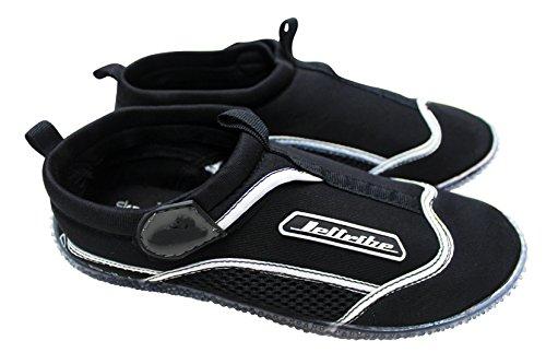 Rec R-14 Ride Shoes PWC Jetski Ride & Race Jet Ski Gear (Black/Black, 12) by Jettribe