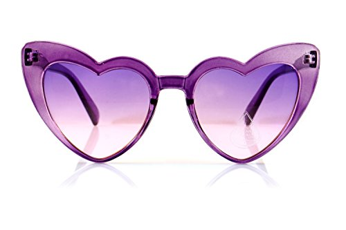 FBL Iconic Celebrity Heart Cat-Eye Gradient Lens Sunglasses A094 (Purple/ Purple - Celebrity Sunglasses 2017