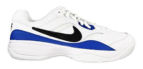 Nike Heren Court Lite Tennisschoenen Wit / Zwart / Blauw Jay