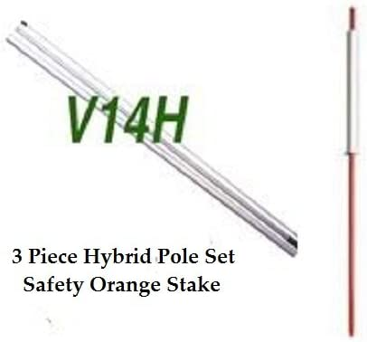 Safety Orange Stake Clearance Sale Windless Feather Swooper Flag Banner Kit 14 Pole Set