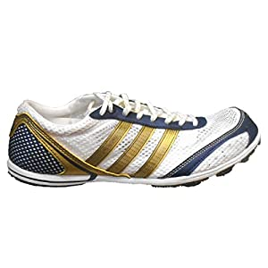 adidas Adizero Avanti Men's Track and Field Shoes (9, Navy/Gold/White)