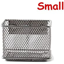 Caveen Magnetic Storage Basket Wire Mesh Tray Caddy Storage Organizer Container for Refrigerator Whiteboard S