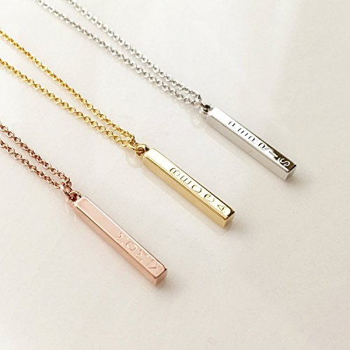 prasada vertical inspirational bar namaste gold shop jewelry necklace