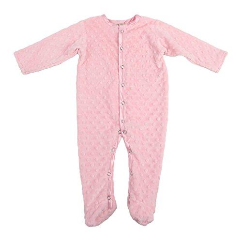 My Blankee Minky Dot Footie Romper, Pink, 5