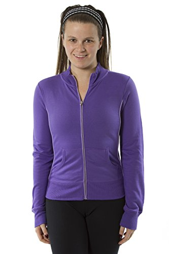 Rogue Apparel Womens Long Sleeve Mock Neck Jacket Zip up With Piping Jacket (Large, - Sun Sports Coupon Ski