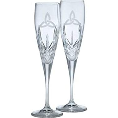 Galway Irish Crystal Trinity Knot Flutes Gift Set