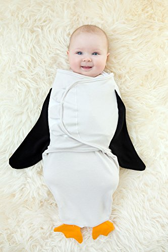 Organic Baby Swaddle Penguin The Glass Baby Bottle