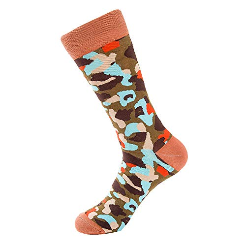Mens Camo Socks,Realdo Fashion Colorful Print Camouflage Stretch Cotton Soft Comfy Socks ()