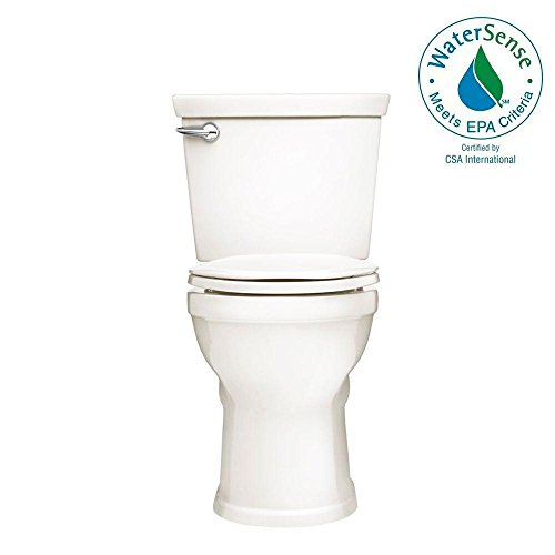 - American Standard Champion 4 Max Right Height 2-Piece High-Efficiency 1.28 GPF Single Flush Elongated Toilet in White