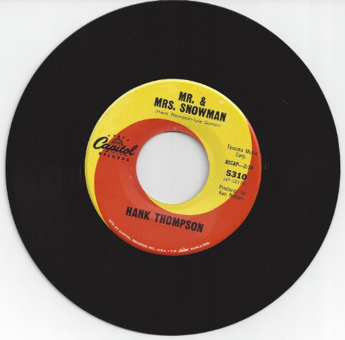 HANK THOMPSON/MR. & MRS SNOWMAN/CAPITOL SWIRL LABEL