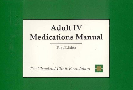 Adult IV Medications Manual
