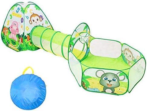 ポップアッププレイテントキッズテントとトンネルとボールプール折りたたみ式プレイハウスプレイテント男の子女の子ギフト