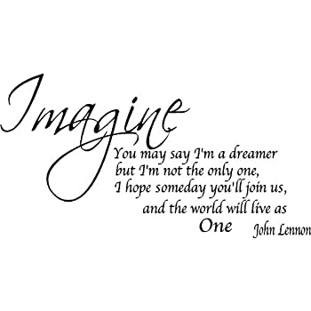 Amazoncom Quote It Imagine Removable Wall Quote John Lennon