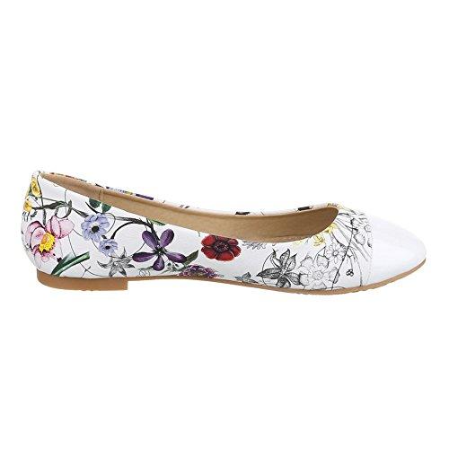 Ital-Design - Bailarinas Mujer Multicolor - Weiß Multi