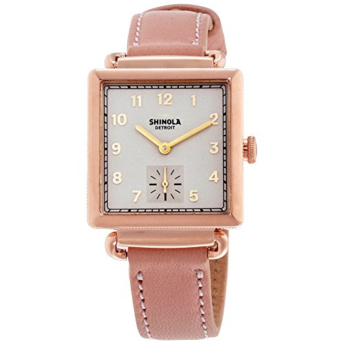 Shinola The Cass Nude Dial Leather Strap Ladies Watch 20065281