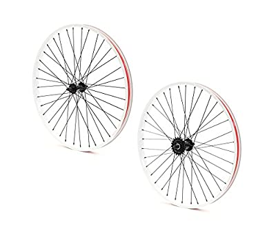 Set of Bicycle Rims (26x32mm; Front & Rear; White)