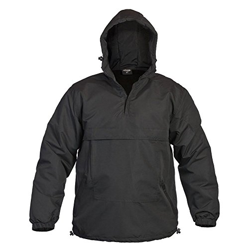 Mil-Tec Combat Summer Anorak Weather Jacket - Black, XX-Large - Weather Microfiber Jacket