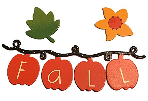 Roeda Brighten Your Life 25003WM Fall Word Pumpkin Banner with Foliage Magnets Set of 3]()
