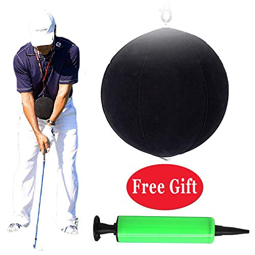 (LCHUANG Golf Training Aids,Golf Swing Training Aid,Golf Training Balls,Golf Intelligent Impact Ball for Assist Posture Correction Training Supplies)