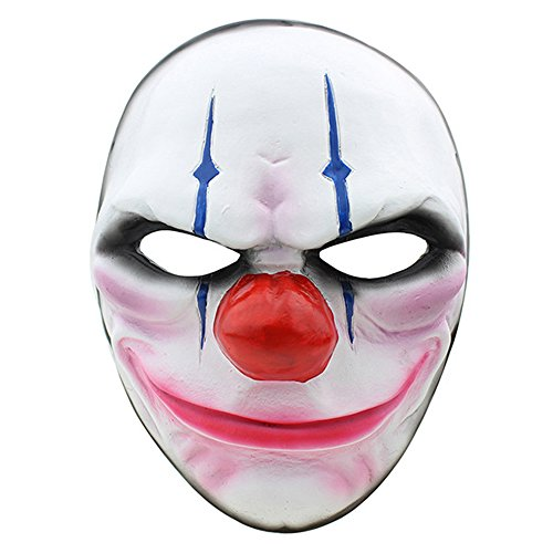 CCOWAY Halloween, Payday 2 Theme Game Horror Cosplay Party Mask For Fencing, Wargame, Costume Play and more(Chains) -
