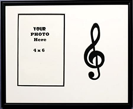 Treble Clef Music Photo Frame 8 X 10 holds 4 X 6 Photo Black & White ...