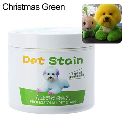 Aland 100ml Professional Pet Stain Anti Allergic Cat Dog Hair Dye Cream Coloring Agent Pet Hair Dyes, Dog Hair Care, Faded Hair dye, Dyed Color Dark dye Paste, Dirty dye - Green Agent