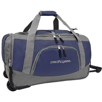 "Traveler's Choice Pacific Gear Lightweight 21"" Carry-On Rolling Duffel Bag - Navy"