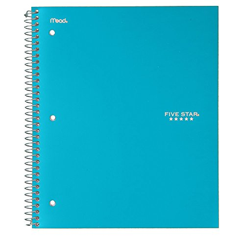 "043100060444 - Five Star Spiral Notebook, 1 Subject, College Ruled Paper, 100 Sheets, 11"" x 8-1/2"", Color Will Vary (06044) carousel main 0"