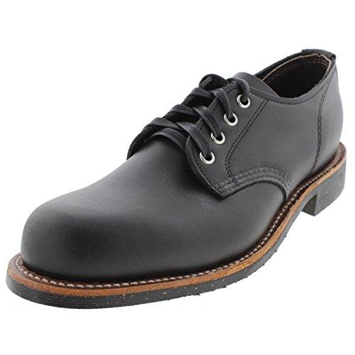 Chippewa Mens Leather Lace Up Oxfords Black 9 Medium (D)