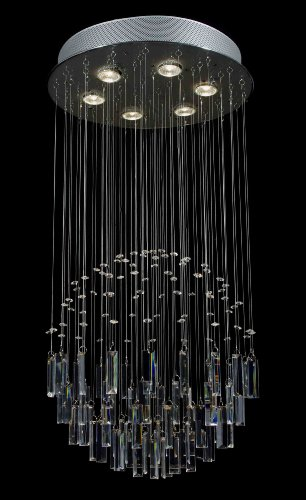 "Modern Contemporary Chandelier ""Rain Drop"" Crystal Chandeliers Lighting! H32″ X W18"