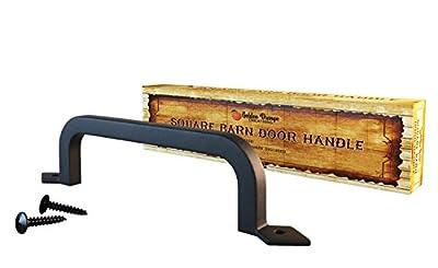 """9-3/4"""" Antique Door Pull Handle with 2 Matching Black Screw - For Custom and Luxury Doors & Sliding Doors - Bedroom, Living Room, Kitchen, Dining Room, Garage, Shed, Barn Door, Pantry, Closet - Soli"""