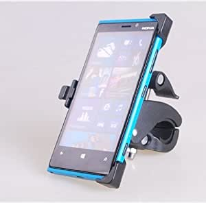 EnGive® Motorcycle Motor Scooter Mount Holder Stand for Nokia Lumia 920 in Black + EnGive®Free Cleaning Cloth