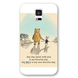 New Zeng Customized Disney Series Phone Case for Samsung Galaxy S5, Winnie the Pooh Samsung Galaxy S5 Case, Only Fit for Samsung Galaxy S5 (White Frosted Shell)