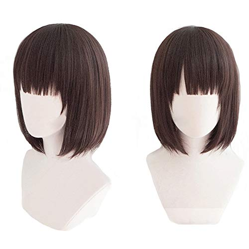 magic acgn Megumi Kato Bob Straight Party For Women Cosplay  Costume Christmas Halloween Wig