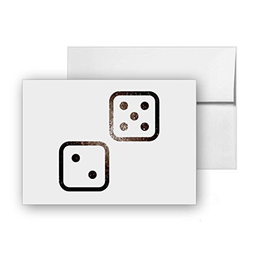 - Dice Casino Gaming Chance, Blank Card Invitation Pack, 15 cards at 4x6, with White Envelopes, Item 74493