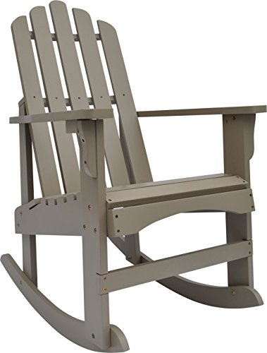 Shine Company Marina Porch Rocker, Taupe Gray