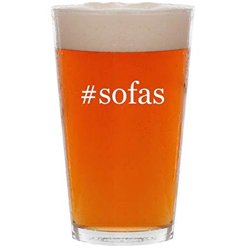 #sofas - 16oz Hashtag Pint Beer Glass
