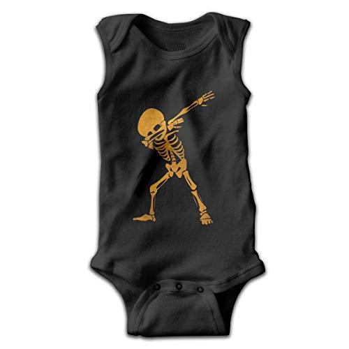 Pullan Eudora Golden Dab Dabbing Skeleton Unisex Baby Sleeveless Cotton Onesies Outfits