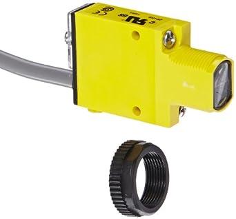 Banner SM312CV2 Mini Beam Photoelectric Sensor, Convergent Sensing Mode, 2 m PVC 4-Wire Cable, Visible Red LED, 10-30 VDC Supply Voltage, Bipolar (NPN and PNP) Output, 43 mm Sensing Range